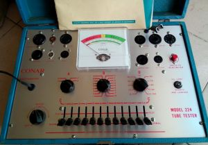 CONAR 224 TUBE TESTER TUBE DATA